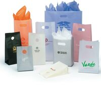 """Frosted High Density Bag w/ Die Cut Handle (8""""x3.5""""x15"""")"""