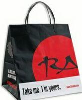 """Plastic Clip Loop Handle Bag (10""""x9""""x14"""")"""
