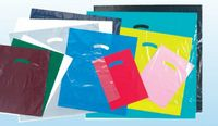 "Super Gloss Low Density Die Cut Handle Bag (20""x20""x5"") PLAIN BAGS"