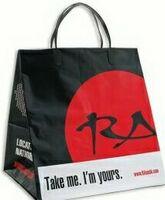 """Plastic Clip Loop Handle Bag (12 1/2""""x8 1/2""""x13"""")"""