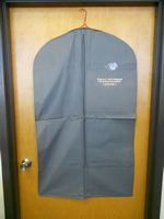 "Large Suit Vinyl Zippered Garment Bag (26""x44"")"
