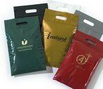 Custom Plastic Bag w/ Die Cut Handle & Zip Lock Closure