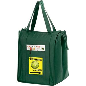 Non Woven Insulated Grocery/Lunch Bag w/ 4 Color Process (13