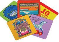 "4"" Square Fabric Coaster w/Neoprene Like Back (Multi-Color)"