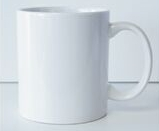 11 Oz. White C-Handle Ceramic Mug
