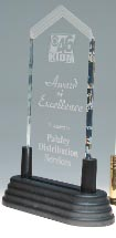 Jade Frosted Arrow Pop-In Acrylic Award - Pointed Top - 3x6