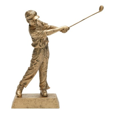 "Golfing, Male - Small Signature Figurines -3-7/8"" x 1"""