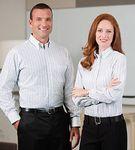 Custom Van Heusen Men's Long Sleeve Dress Shirt with Pocket - Embroidered