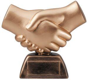 Hand Shake Sculpture - 6 Tall