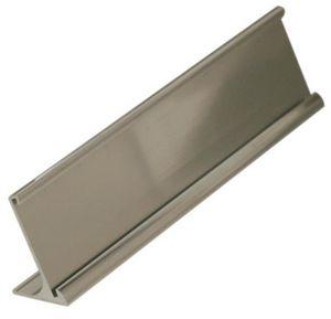 name plate wedge desk stand aluminum 1 1 2 x 10 nph12 g s k