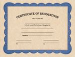Custom Certificate of Recognition - Parchtone 8-1/2