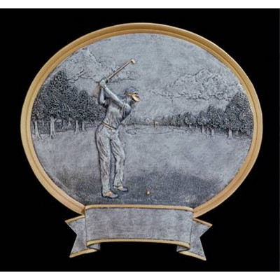 Golf, Female - Oval Legend Plates - 8""