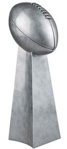 Football/Championship Silver Tower Resin - 14