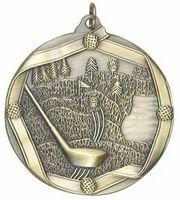 """Medal """"Golf"""" - 2 1/4"""" dia. Die Cast"""