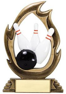 Bowling, Flame Series Figures - 7-1/4