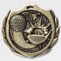"Golf Burst Medal - 2 1/4"" Dia."