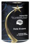 Blue Marble Shooting Star Acrylic Award 7 3/4