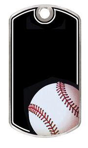 Custom Imprinted Baseball Full Color Dog Tags!