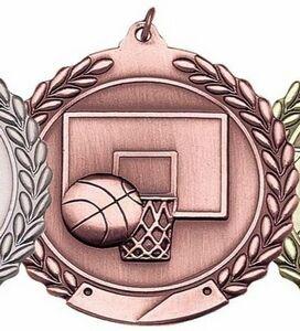 Medal, Basketball Die Cast - 2 3/4 Dia
