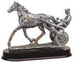Custom Harness Horse Racing Award Sculpture - 10