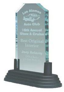 Jade Green Pop-In Acrylic Award w/ Clipped Corners - 3x6