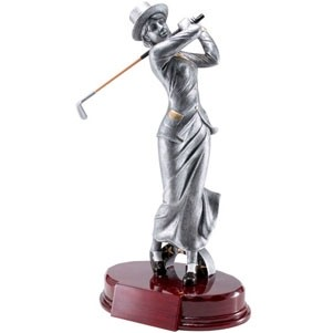 Golf, Female - Resin Figures - 10-1/4""