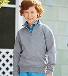 Jerzees Embroidered Quarter-Zip Youth Sweatshirt
