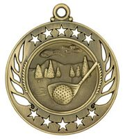 "Medal, ""Golf"" Galaxy - 2 1/4"" Dia."