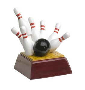 Bowling, Full Color Resin Sculpture - 4