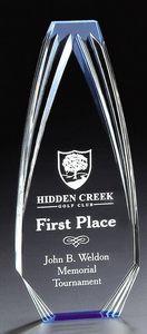 Blue Diamond Obelisk Acrylic Award - 8 High