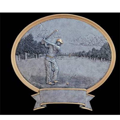 Golf, Male Oval Sport Legend Plates - 6""