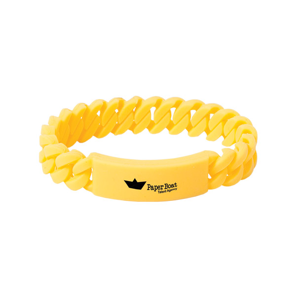 Twist O Might Silicone Bracelet, SB8735, 1 Colour Imprint