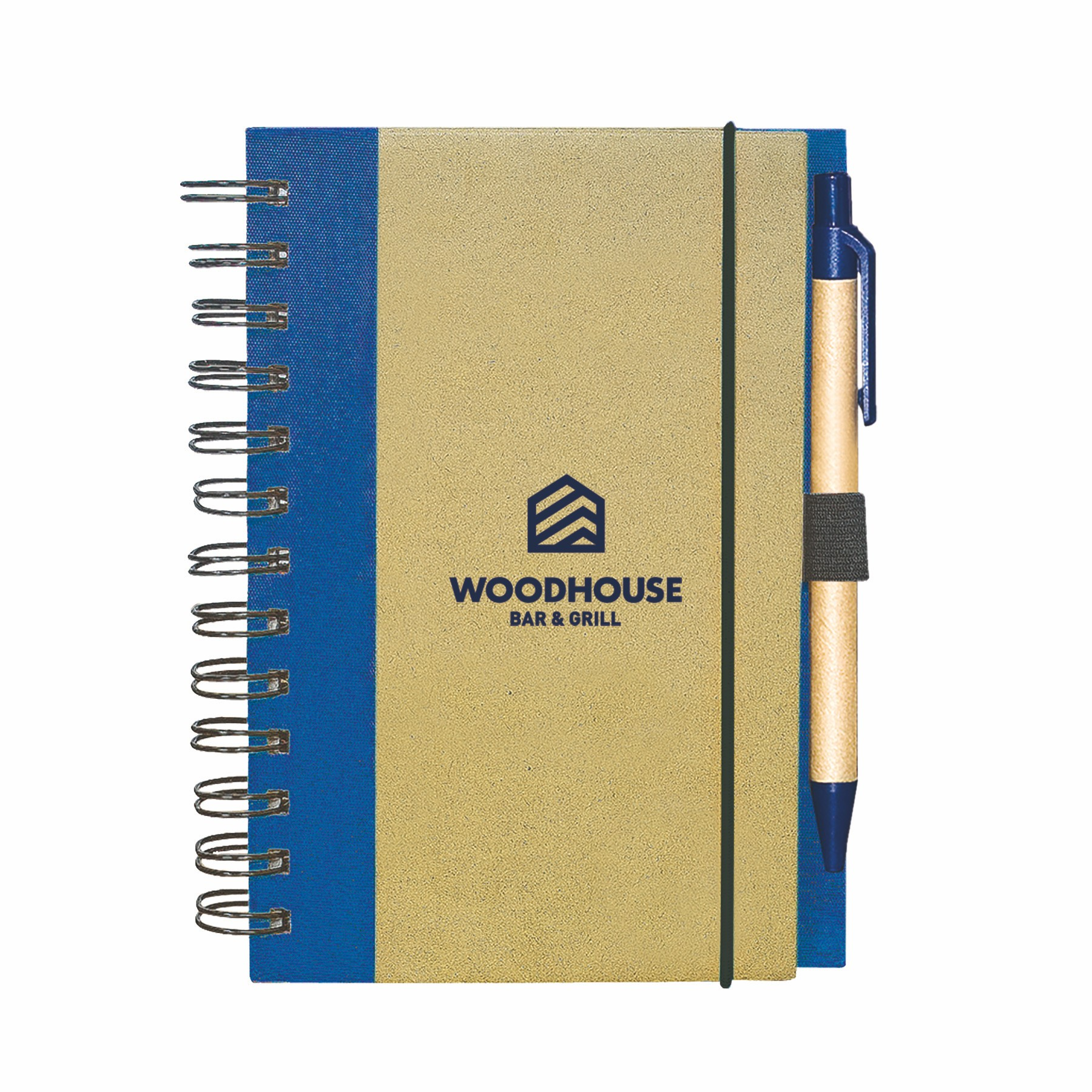 Recycled Cardboard Notepad, RP4751, 1 Colour Imprint
