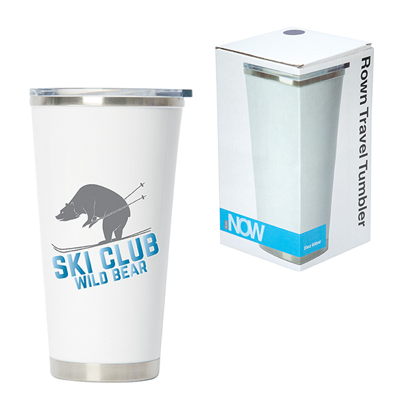 Rown 600 Ml. (20 Oz.) Tumbler With Ceramic Lining, DA9402, 1 Colour Imprint