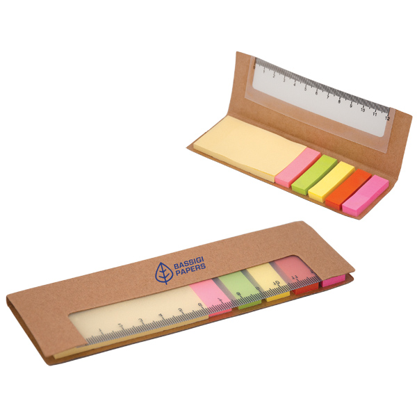 300 Sticky Notes With Ruler, DA8344, 1 Colour Imprint