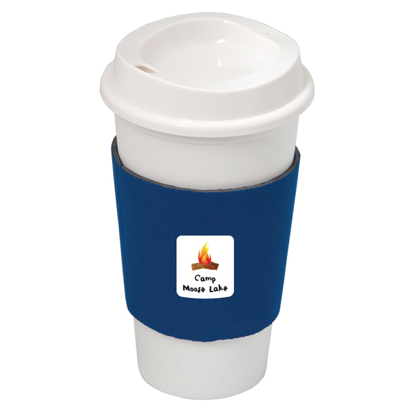Nyc Plastic Cup With Neoprene Sleeve, DA7437, 1 Colour Imprint