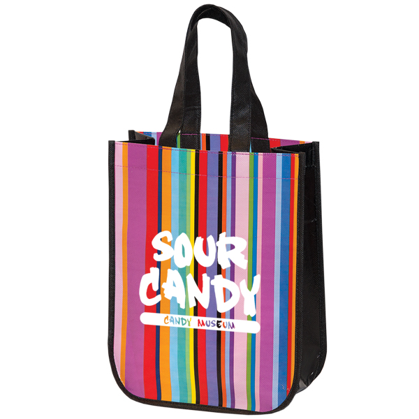 MINI multi-stripe RECYCLED TOTE, TO7287, 1 Colour Imprint