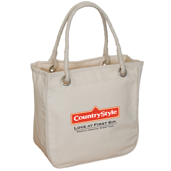Organic Rope Tote, E7099, 1 Colour Imprint
