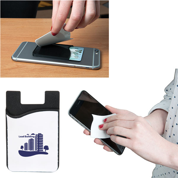 Smart Phone Wallet With Screen Cleaner, SB5499, 1 Colour Imprint