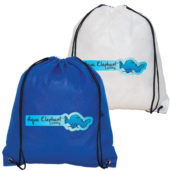 Non Woven Drawstring Backpack, NW4801, 1 Colour Imprint