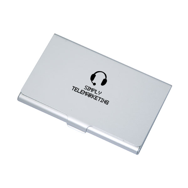 Chadron Aluminum Card Holder, TG9019, 1 Colour Imprint