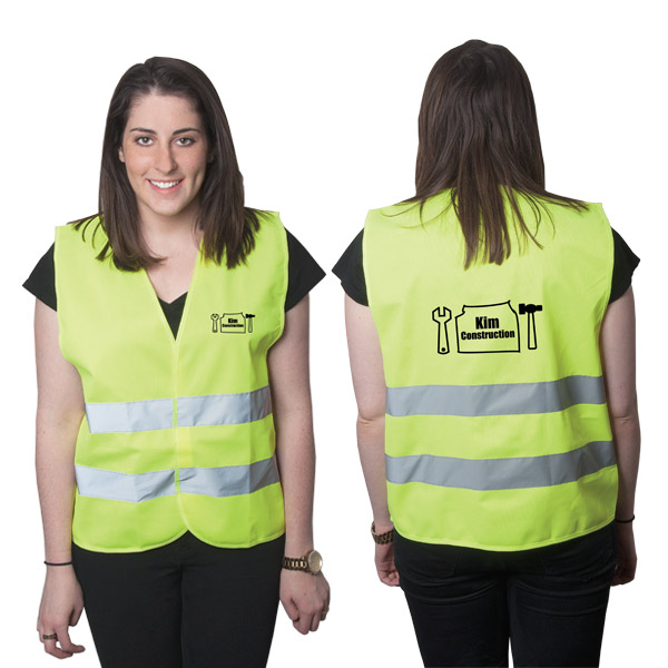 Highviz Large Safety Vest, V8607L, 1 Colour Imprint