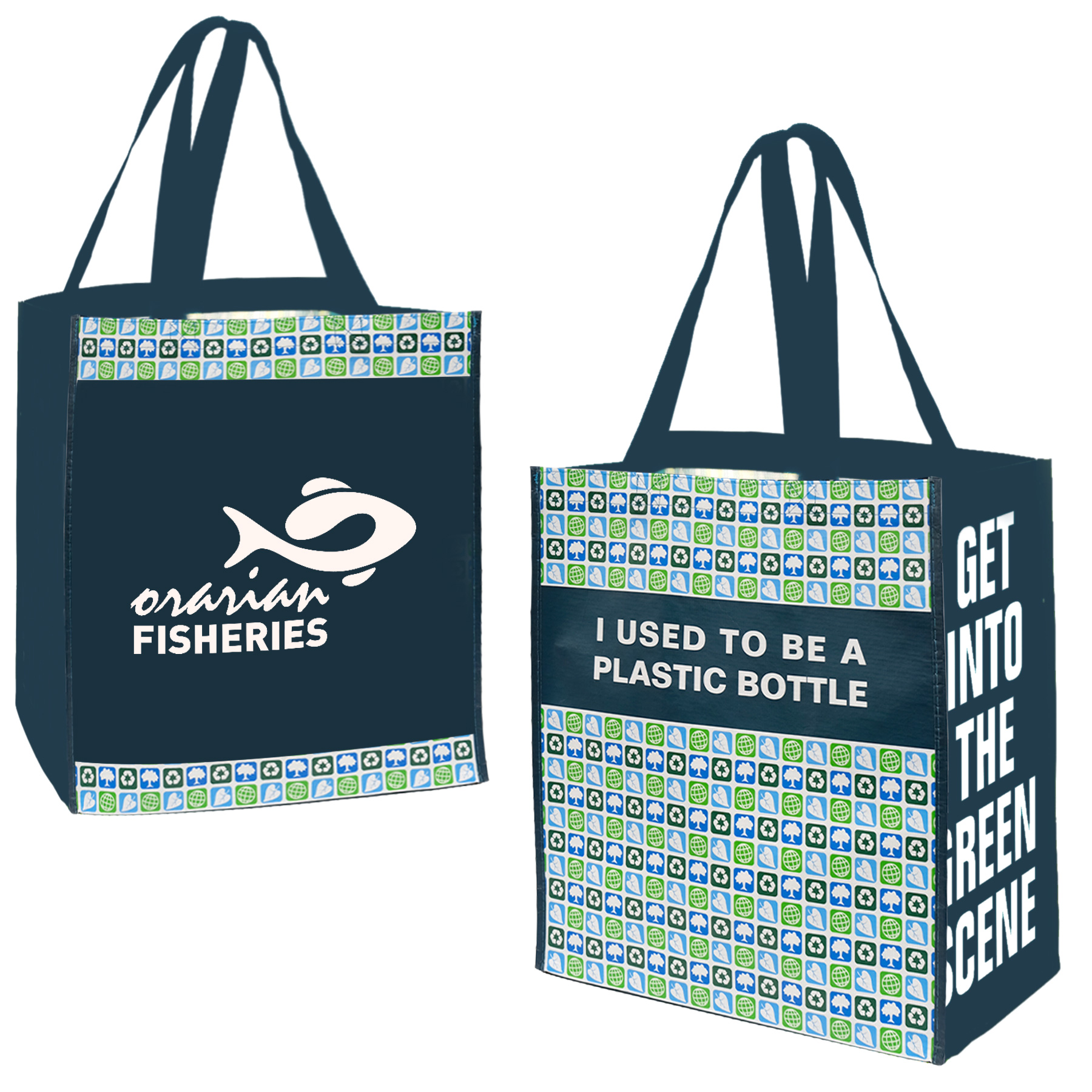 Pet Preprinted Jumbo Grocery Tote, RE6944, 1 Colour Imprint