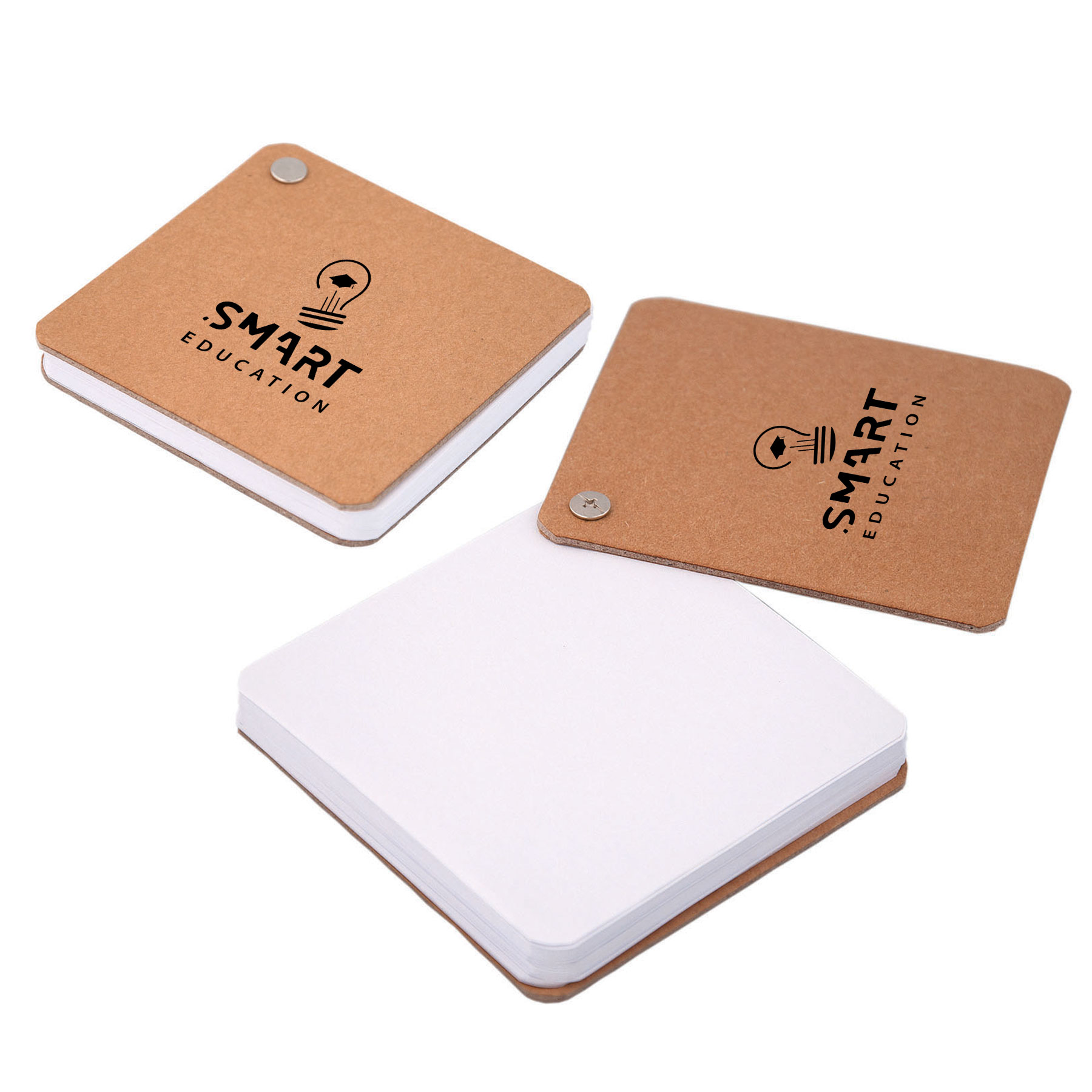 Recycled Cardboard Pivot Pad - White, CA8361, 1 Colour Imprint