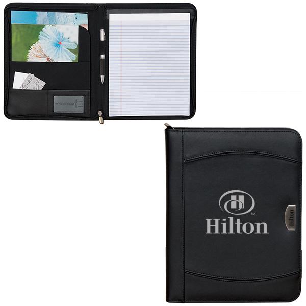 Zippered Notebook Portfolio, BL6827, 1 Colour Imprint