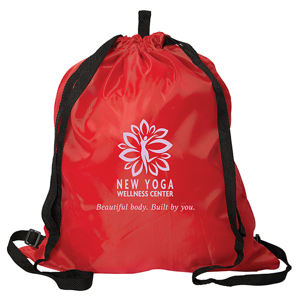 Ohana Drawstring Backpack, P9385, 1 Colour Imprint