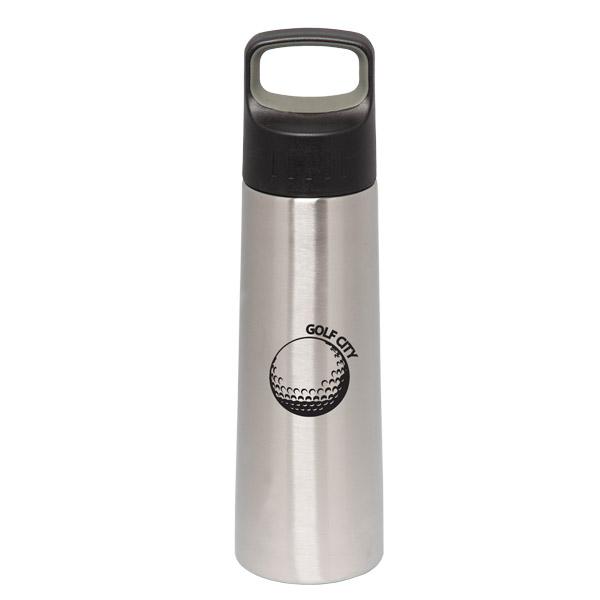 750 Ml. (25 Oz.) Single Walled Stainless Steel Bottle, WB8644, 1 Colour Imprint