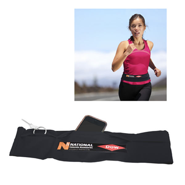 Puertocash Running/Travel Belt - Medium, P645M, 1 Colour Imprint