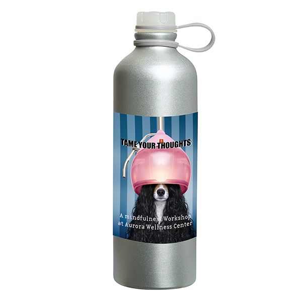 Freshy 750 Ml. (25 Fl. Oz.) Aluminum Bottle, WB9641, 1 Colour Imprint
