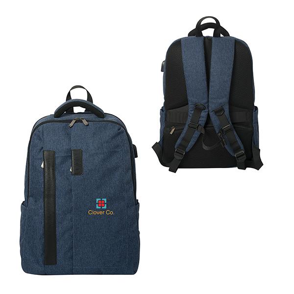 Savannah Charge Laptop Backpack, KN9448, 1 Colour Imprint